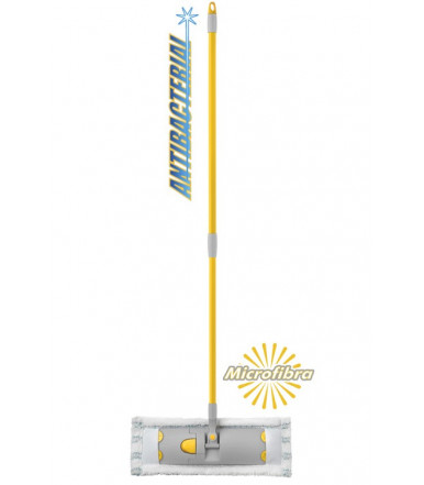 Floor Flat mop with 100% microfibre double strings