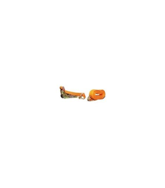 Cinghia di fissaggio con cricchetto e ganci 4mt