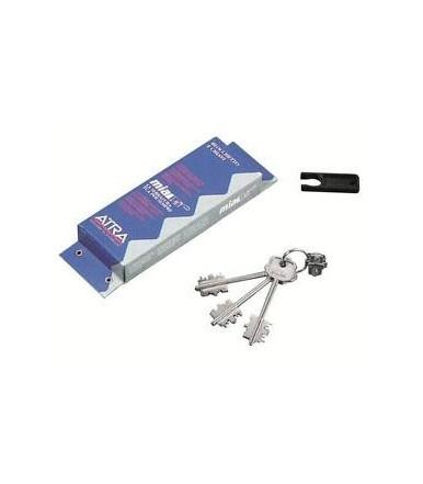 Kit blocchetto Atra con 3 chiavi sistema Mia per DIERRE art.BLO3110