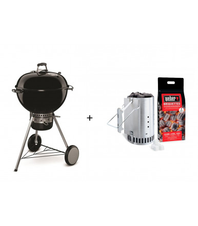 Pack Barbecue Weber Master Touch + Ciminiera di accensione