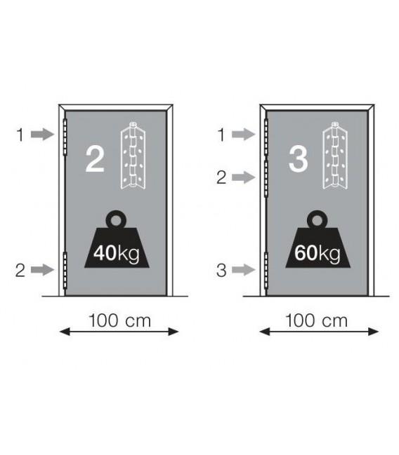 Coppia Cerniere Semplice azione SA 180 Justor in alluminio