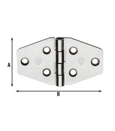 Aldeghi stainless hinges nautical furniture 40X70 854IN