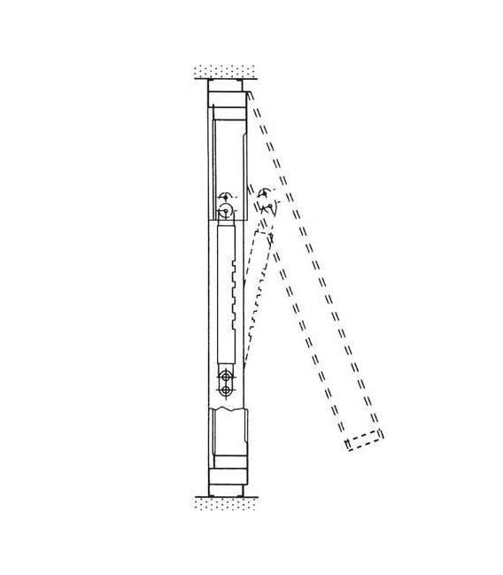 Braccio a scatti regolabile per finestra wasistas IBFM art.340