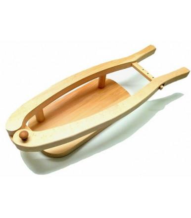 Porta prosciutto in legno di faggio artigianato abruzzese