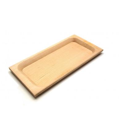 Vassoio piatto in legno di faggio artigianale non trattato