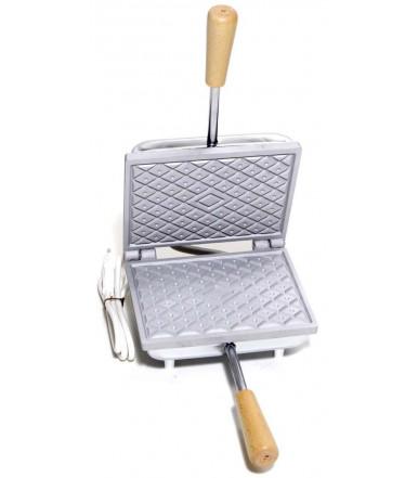 Ferratelle biscottiera Abruzzese rettangolare tipo Waffles o Neole