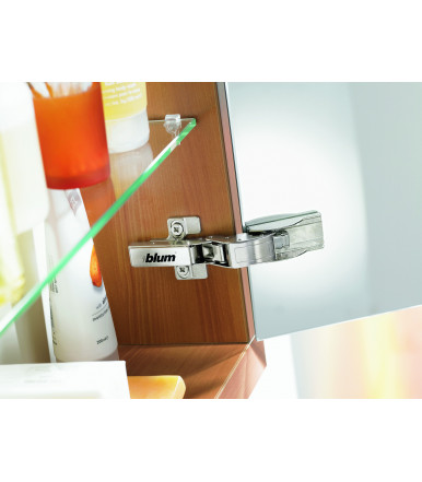 Blum Clip Top adhesive hinge for crystal glass doors and mirrors