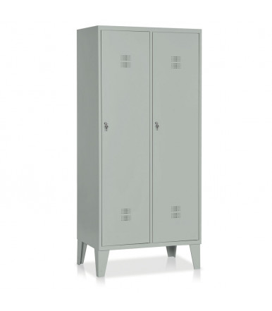 Locker 2 units with partition painted steel E522