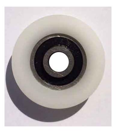 Ruota in nylon gola tonda Ø 30 mm