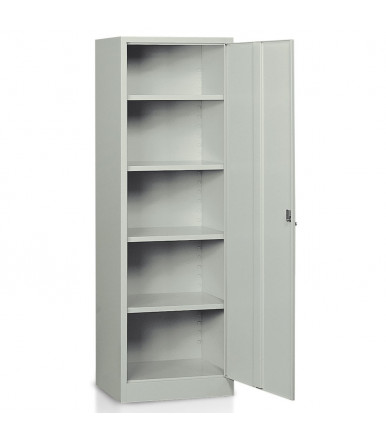 Multipurpose locker 1 door 4 adjustable shelves painted steel E301