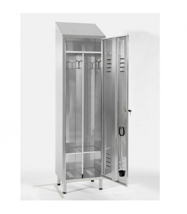 Inox locker 1 unit with partition E101