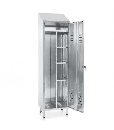 Inox broom holder cabinet 1 door E121