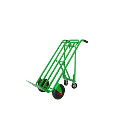Cart 3 positions hand truck with folding rear support 2 wheels Ø mm 260- 2 wheels Ø 125 mm