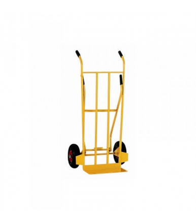 Cart 3 positions hand truck with folding rear support Pneumatic wheels Ø mm 260
