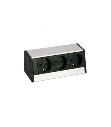 EVOline power strip from external desk R-Dock SMALL 3 schuko