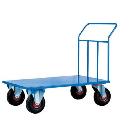 Carrello pianale in lamiera alta portata ruote in pneumatiche Ø mm 260 Art.044A