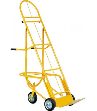 Cart high back reclined hand truck for fruit and vegetable crates 2 fixed wheels and 1 swivel Ø mm 200 Art.018