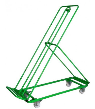 Carrello espositore per ortofrutta grande verniciato 2 ruote fisse e 2 girevoli Ø mm 100 Art.141