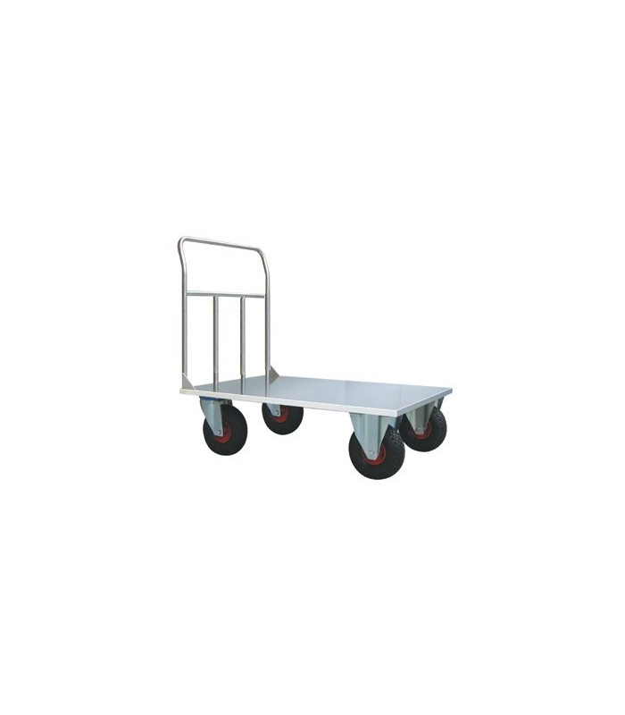 cart aisi 304 inox high capacity platform truck 2 fixed. Black Bedroom Furniture Sets. Home Design Ideas