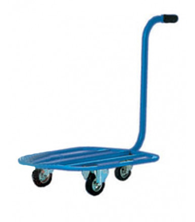Cart dolly with gooseneck handle 2 fixed casters Ø mm 100 - 1 swivel caster Ø mm 80 Art.016