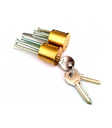 Doppio cilindro per pomolo in profilato di ottone MP47 Cortellezzi Primo