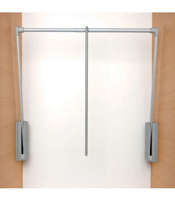 Appendiabito saliscendi per armadio Servetto originale cm 77-120 grigio