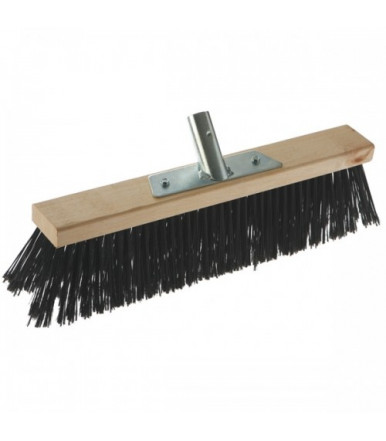 Outdoor industrial broom with wooden support, 60 cm without handle