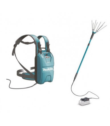 Electric tool to knock olive down BHL360 Makita 36V LI-ION with backpack battery BL36120A 12 Ah