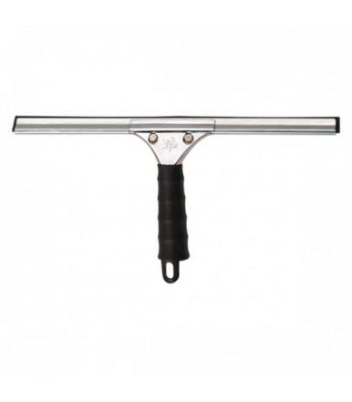Spatola inox  per vetri professionale con gomma da 35 cm