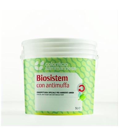 Colorificio Sammarinese Biosistem Matt white water-based paint superwashable for indoor use