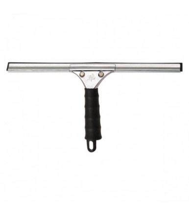 Professional stainless steel spatula for glass with 25 cm rubber