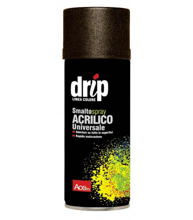 Acem DRIP Acrylic enamel spray metalized effect Black