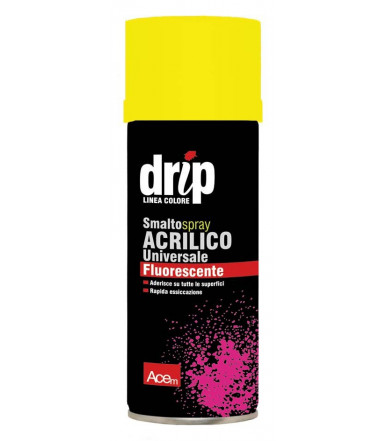 DRIP Smalto nitroacrilico Fluorescente spray Giallo Acem