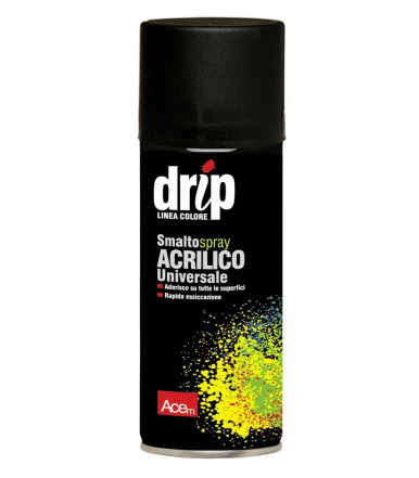 Acem DRIP acrylic enamel universal spray Glossy Black Paints RAL