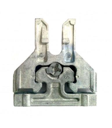 Attacco frontale in zama per cassetto METABOX alluminio Blum