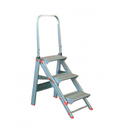 Marchetti Class più ladder-stool with parapet anodized aluminum