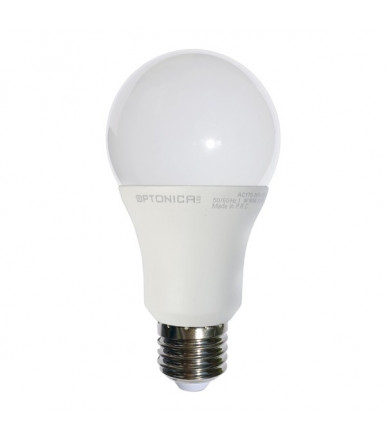 Optonica Led - LED lamp - 12W E27 A65 aluminium+thermoplastic 4500K
