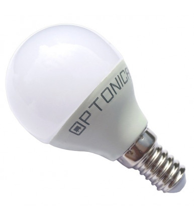 Lampadina sfera LED - 6W E14 G45 4500K Optonica Led