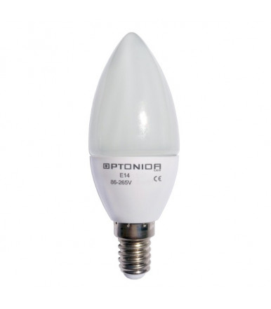 Lampadina oliva LED - 6W E14 4500K Optonica Led