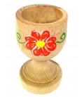 Bicchiere porta uovo in legno di faggio artigianato abruzzese