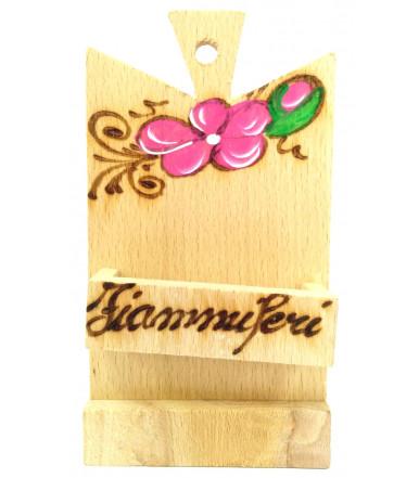 Porta fiammiferi da appendere in legno di faggio artigianato abruzzese