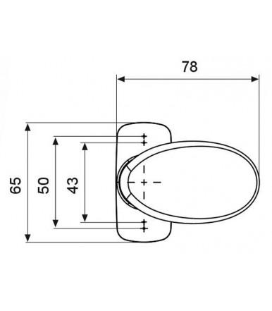 Domatic double knob GIOTTO Line Sistema C2061