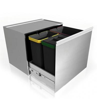 Lavenox System SY.T.37 stainless steel rubbish bin