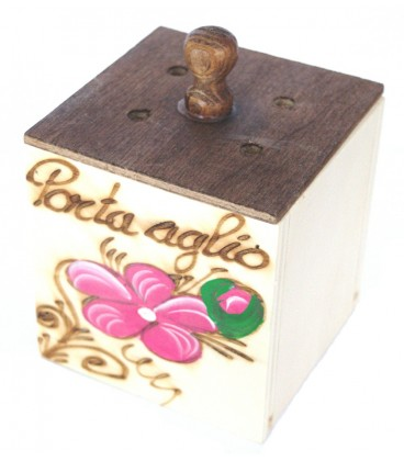 Garlic holder plywood Abruzzo handicraft