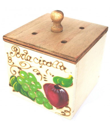 Onion holder plywood Abruzzo handicraft
