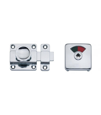 940 BAL escutcheon with bathroom privacy set with red/white release