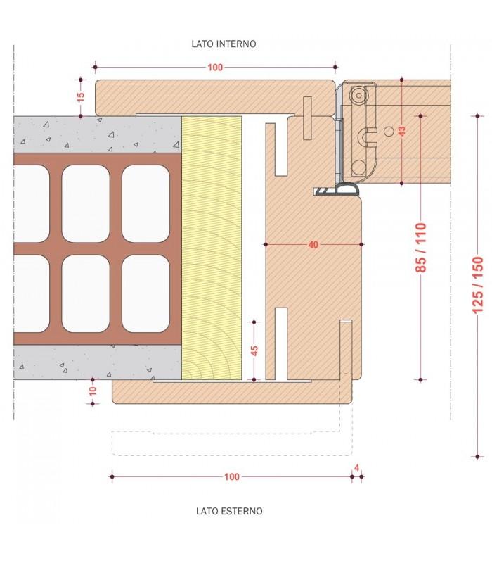Porta pail alisea ms interna in decorato con telaio evo in for Telaio porta
