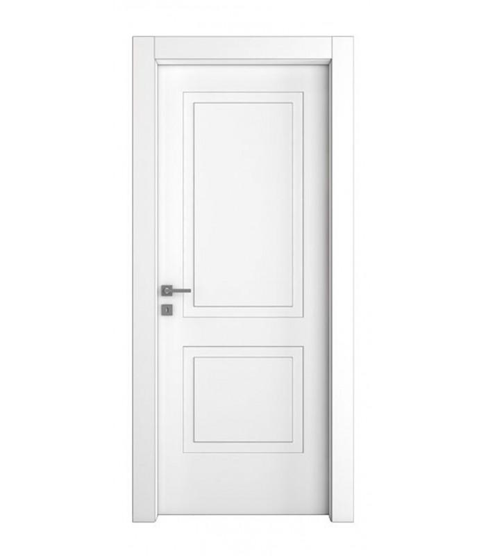 Porta pail pianeta 2 interna laccata pantografata con telaio evo in legno listellare mancini - Telaio porta interna ...
