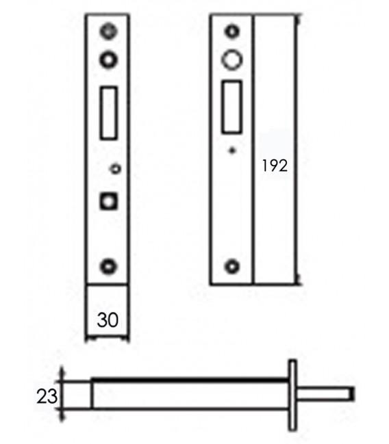 Elettroserratura a gancio con cilindro per porte e cancelli scorrevoli da infilare EGI 381
