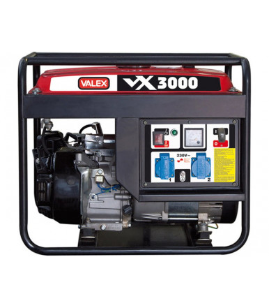 Generatore 4 tempi OHV 2,8 kW Valex Linea Rossa VX3000
